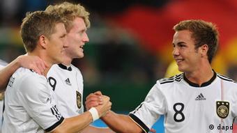 Fußball Freundschaftsspiel Deutschland - Brasilien Götze Schweinsteiger Schürrle (dapd)