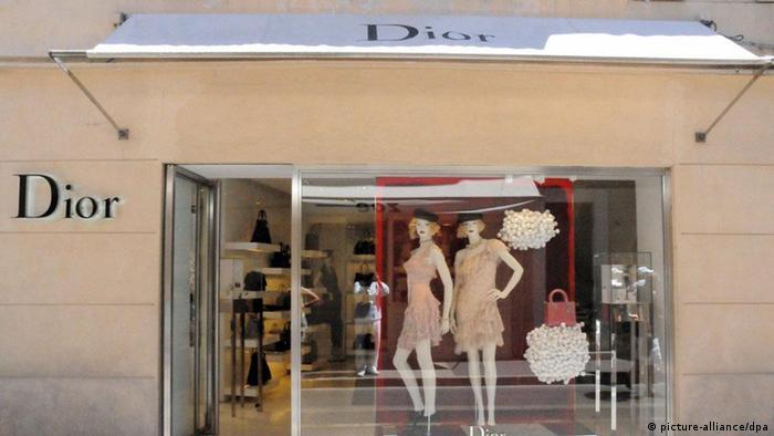 Geschäft Schaufenster Dior Saint-Tropez Luxusgüter
