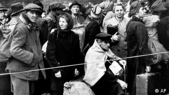 Displaced people at the end of World War II