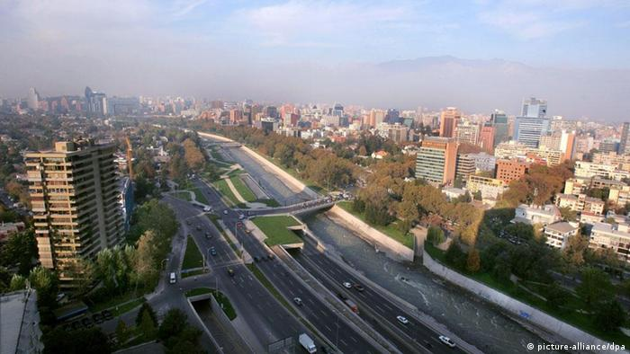 Santiago de Chile Stadtansicht Panorama