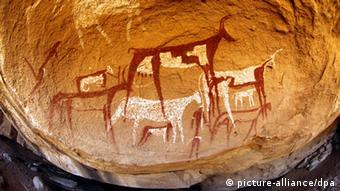 Cave paintings from Uwaynat, dating back to when the Sahara was still a savannah