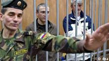 Chodorkowski im Gerichtssaal
