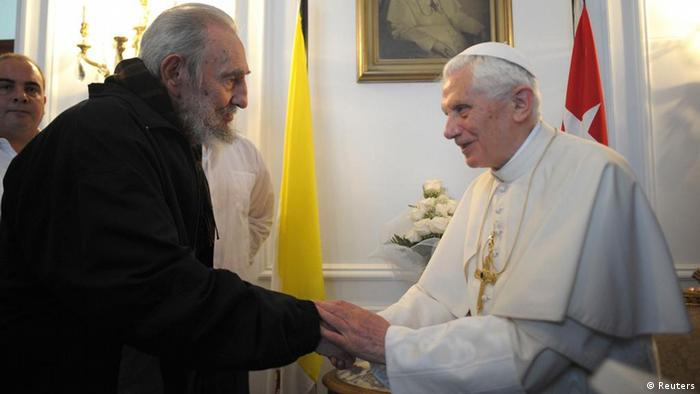 Pope Benedict XVI met Fidel Castro in Havana in March, 2012