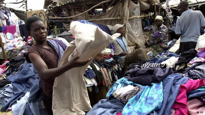 Old clothing donations in Kenya