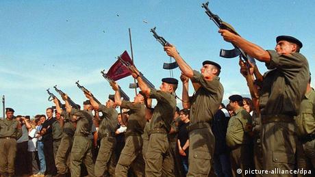 Beisetzung UCK-Kämpfer