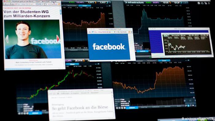 Symbolbild Facebook Börsengang im Mai 2012 Mark Zuckerberg
