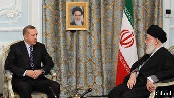 Iran Recep Erdogan und Ayatollah Ali Khamenei