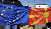 Mazedonien EU Flaggen