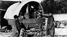 Nationalsozialismus Polizei gestellte Razzia bei Sinti und Roma