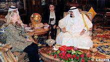 هیلاری کلینتون، وزیر خارجه آمریکا، در دیدار با ملک عبدالله، پادشاه عربستان سعودی