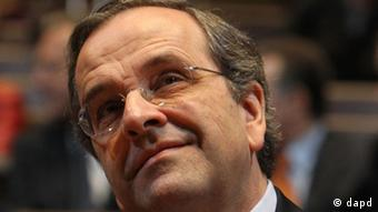 Antonis Samaras, the head of the conservative New Democracy party