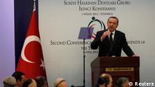 اردوغان، نخستوزیر ترکیه گفت که حمله رژیم اسد به پناهجویان سوری بیپاسخ نمیماند.