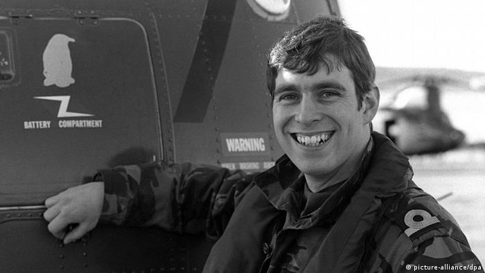 Falklandkrieg Prinz Andrew als Hubschrauberpilot