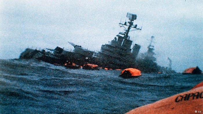 Falkland Savaşı'ndan batırılan Arjantin savaş gemisi Belgrano
