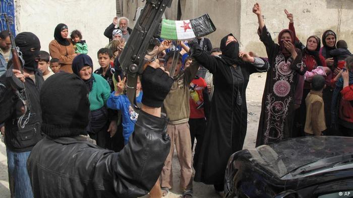 رزمندگان شورشی سوریه در حومه دمشق