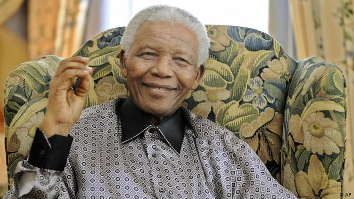 Nelson Mandela smiling on his birthday in 2008