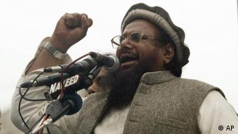 In this Jan. 4, 2011 photo, Hafiz Saeed, the leader of a banned Islamic group Jamaat-ud-Dawa, an alias of the proscribed Lashkar -e-Taiba terror group, addresses rally against India and United States in Lahore, Pakistan. (Photo: AP)