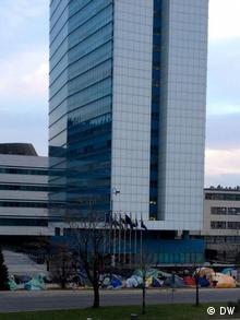 Šatorsko naselje bivših vojnika u Sarajevu