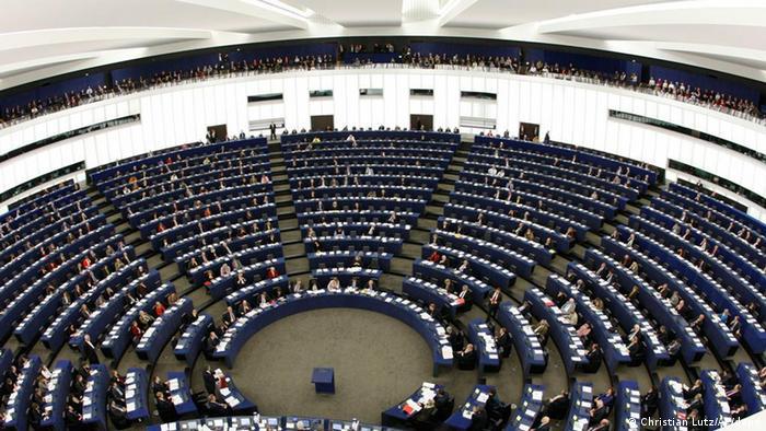 The plenary floor of the European Parliament