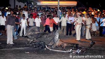 Aftermath of one of the 2008 Mumbai attacks
