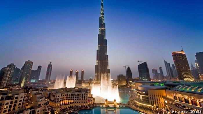 Burj Khalifa over Dubai