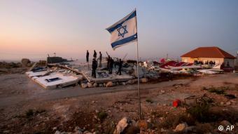 Von israelischen Behörden zerstörte Siedlung bei Ramallah, September 2011 (Foto: AP)