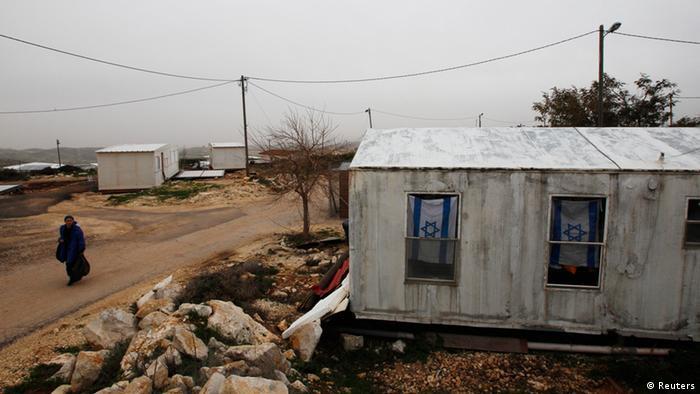 Container-Haus in israelischer Siedlung Migron, Foto: REUTERS