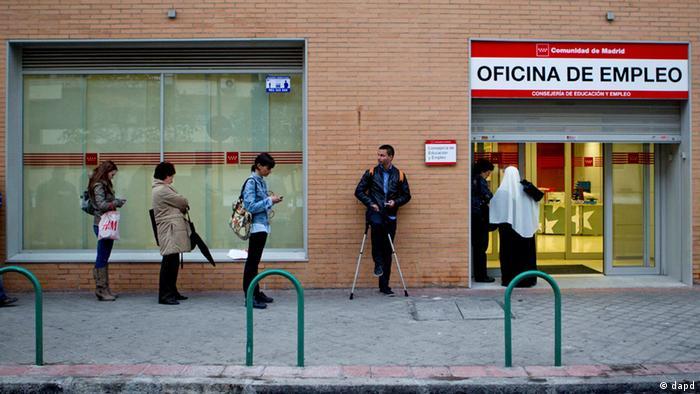 Spanien Madrid Arbeitssuchende Arbeitslosigkeit (dapd)