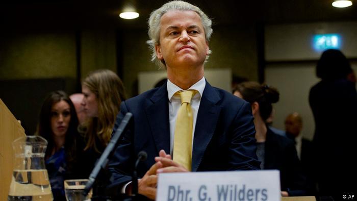 Geert Wilders in Amsterdam