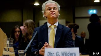 Rechtsaußen-Politiker Geert Wilders vor Gericht, 2011 (Foto: AP/dapd)