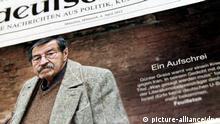 Günter Grass auf der Titelseite von der Süddeutschen Zeitung