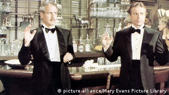 Film scene from The Sting with Paul Newman and Robert