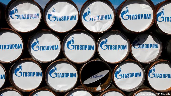Трубы с логотипом Газпрома