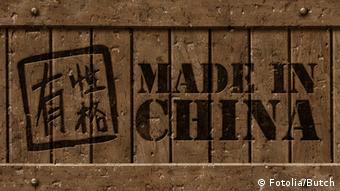 Crate with a Made in China logo