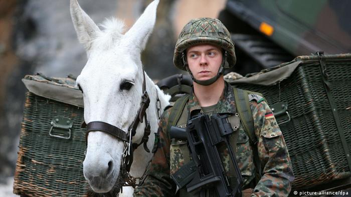 در این پاسخنامه حکومت فدرال آلمان گفته شده که ارتش آلمان هنوز هم از قاطر در جریان ماموریت هایش برای حمل و نقل استفاده می کند.