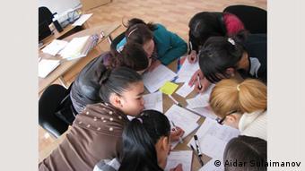 Школьники в Бишкеке