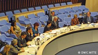 Roundtable zum Thema Altern und Gesundheit am WHO Hauptsitz April 2012 COPYRIGHT: DW/C.WITTE