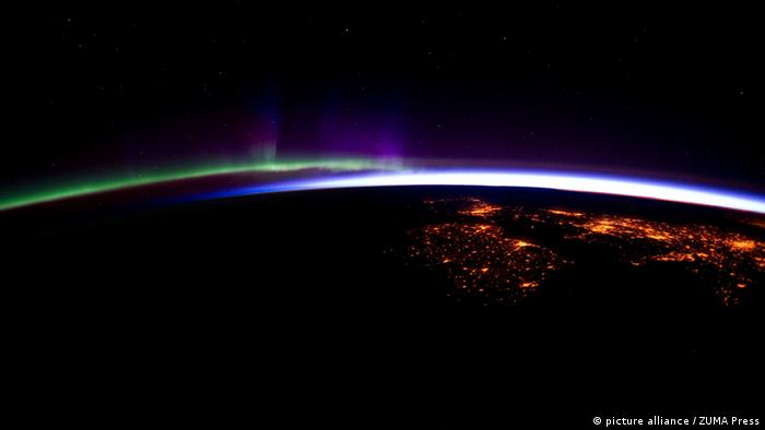 Aurora Borealis Nordlicht Polarlicht ISS Weltraum (picture alliance / ZUMA Press)