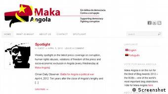 Angola Bürgerrechtler Rafael Marques de Morais Blog Maka Angola Screenshot (Screenshot)