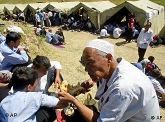 Лагерь беженцев в Киргизии