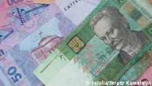Symbolbild Ukraine Geld Währung Hrywnja