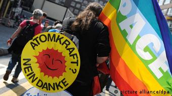 Anti-nuclear power demos in Germany