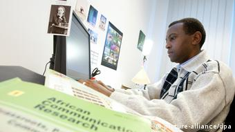 George Mutalemwa from Tanzania is teaching at a German college