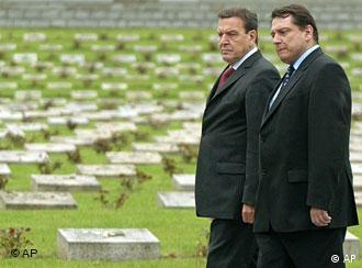 Schröder and Czech Premier Jiri Paroubek in Prague on Tuesday