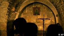 Jerusalem Via Dolorosa fünfte Station Handabdruck Jesus