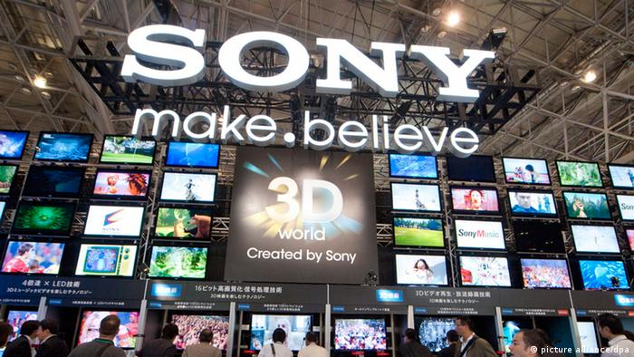 Sony stand at a consumer fair