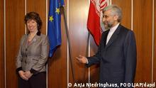 مذاکرات اتمی ناکام ایران با گروه ۱+۵در ژنو در سال ۲۰۱۰ میلادی، سعید جلیلی و کاترین اشتون