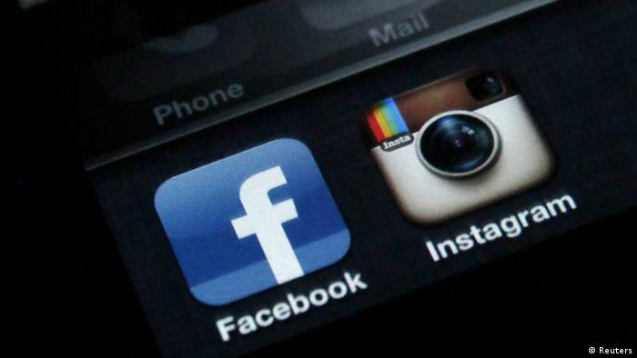 Символы Facebook и Instagram