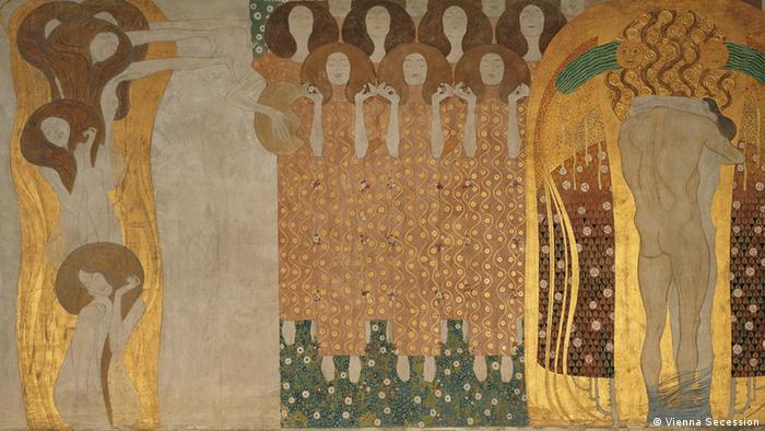 Gustav Klimt's Beethoven Frieze (detail), Photo: Vienna Secession