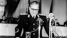 Yugoslavia Premier Josip Broz Tito addresses the opening session of Yugoslavia's Third Congress of the People's Front at Belgrade on April 9, 1949. (ddp images/AP Photo)